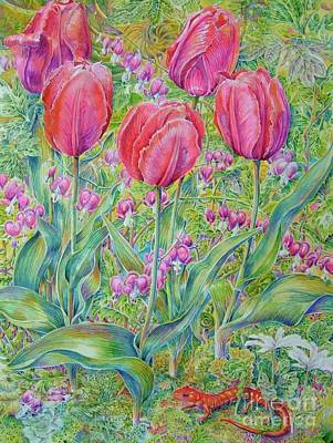 Newts Painting - Springtime by Barbara Timberman