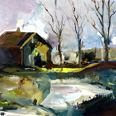 Painting - Springtime Barn by John Jr Gholson