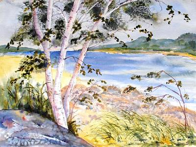 Painting - Springtime Birches by Diane Kirk