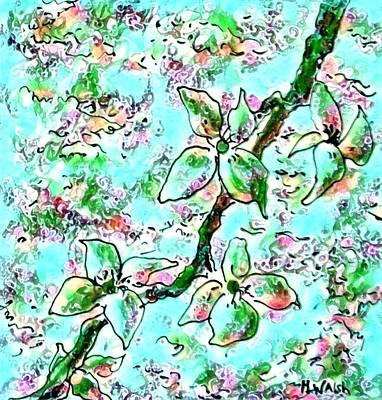 Digital Art - Springtime Blossoms 2 by Megan Walsh