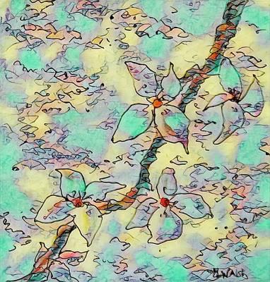 Digital Art - Springtime Blossoms by Megan Walsh