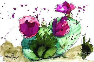 Painting - Springtime Cactus by Marcia Breznay