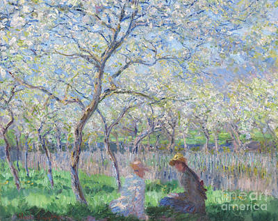 Tree Blossoms Painting - Springtime by Claude Monet