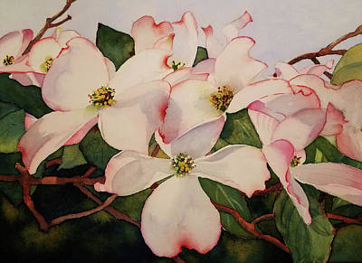 Painting - Springtime Dogwood by Judy Mercer