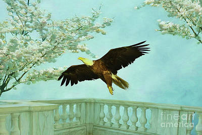 Firefighter Patents Royalty Free Images - Springtime Eagle Royalty-Free Image by Deborah Benoit