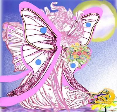 Painting - Springtime Fairy by Belinda Threeths
