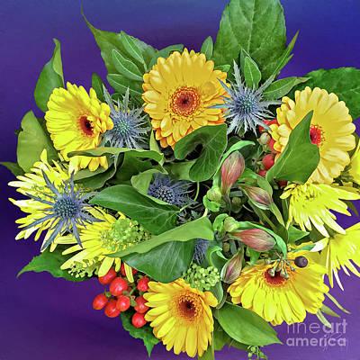 Springtime - Flower Bouquet Art Print by Gabriele Pomykaj