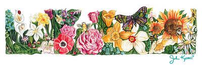 Painting - Springtime Flowers by John Keaton