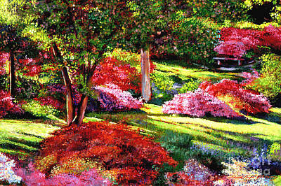 Painting - Springtime For Azaleas by David Lloyd Glover