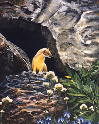 Painting - Springtime For Weasel by Rebeca Gallant