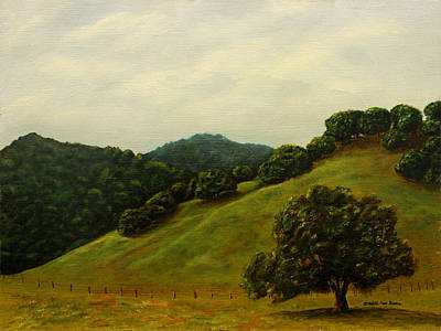 Painting - Springtime Hills by Charlotte Bacon