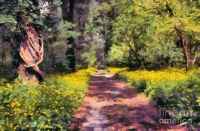 Painting - Springtime In Astroni National Park In Italy by George Atsametakis