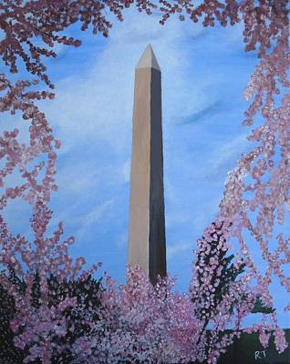 Washington Monument Painting - Springtime In Dc by Rita Tortorelli