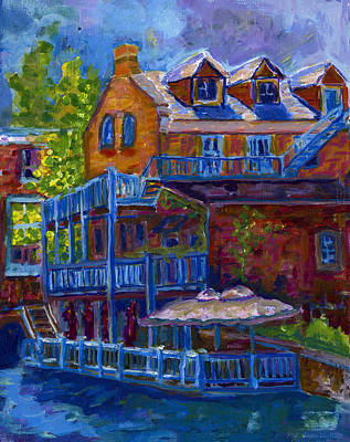 Staircase Painting - Springtime In Perth by Jo-Anne Gazo-McKim