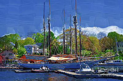 Digital Art - Springtime In The Harbor by Kirt Tisdale