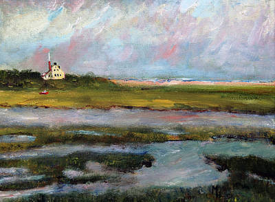Painting - Springtime In The Marsh by Michael Helfen