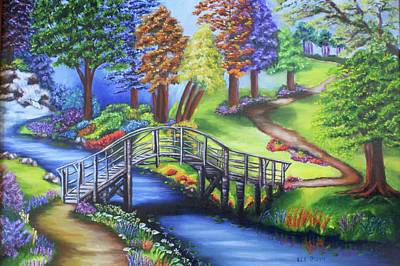 Painting - Springtime In The Park by Theresa Cangelosi