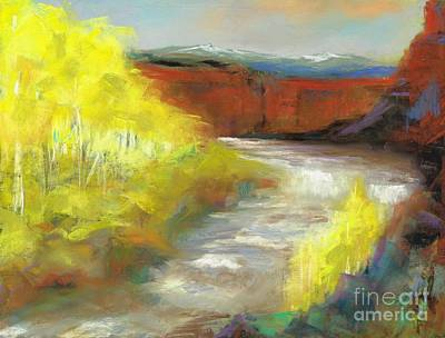 Springtime In The Rockies Art Print by Frances Marino