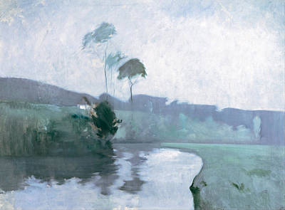 Art Print featuring the painting Springtime by John Henry Twachtman
