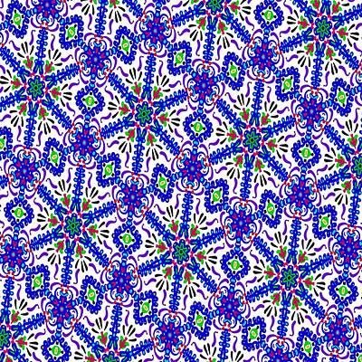 Digital Art - Springtime Kaleidoscope by Laurie Pike