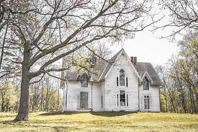 Abandonment Digital Art - Springtime Ledge Homestead by Dawn Braun