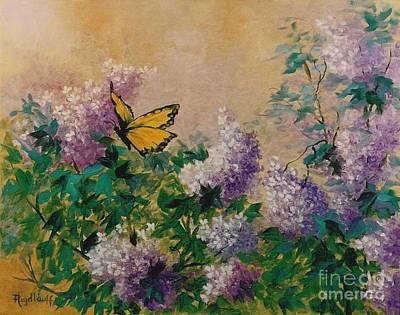 Painting - Springtime Lilacs by Pat Heydlauff
