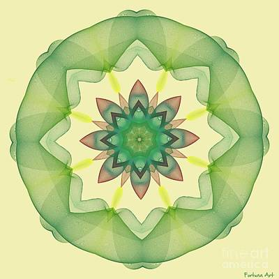 Digital Art - Springtime Mandala by Dragica Micki Fortuna