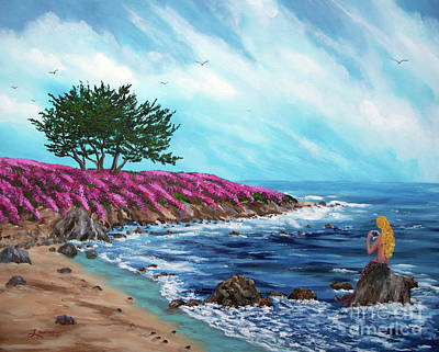 Painting - Springtime Mermaid by Laura Iverson