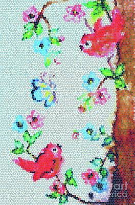 Painting - Springtime Mosaic by Hazel Holland