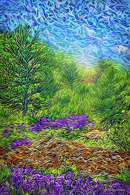 Digital Art - Springtime Mountain Flowers by Joel Bruce Wallach