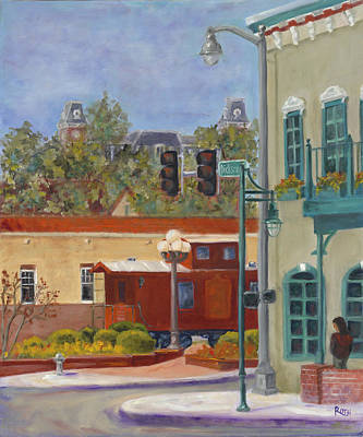 University Of Arkansas Wall Art - Painting - Springtime On Dickson Street by Theresa Roth