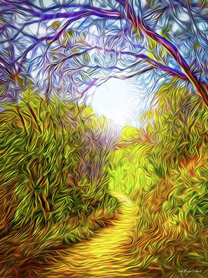 Springtime Pathway Discoveries Art Print