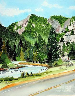 Fort Collins Painting - Springtime Poudre Canyon by Tom Riggs