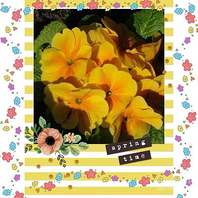 Photograph - Springtime Primroses 2  by Joan-Violet Stretch
