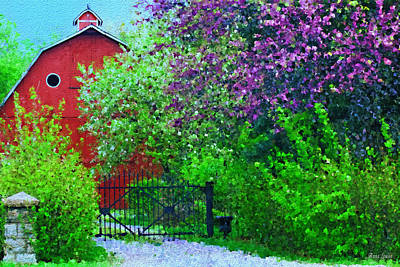 Photograph - Springtime Red Barn by Anna Louise
