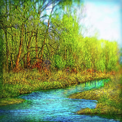 Digital Art - Springtime River Drifting by Joel Bruce Wallach
