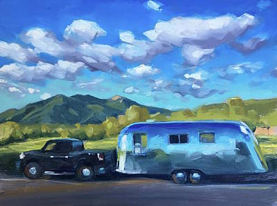 Painting - Springtime Road Trip To Taos by Elizabeth Jose