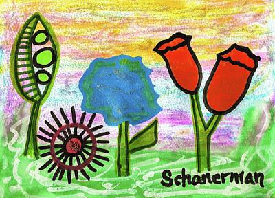 Uplifting Drawing - Springtime Splendor by Susan Schanerman