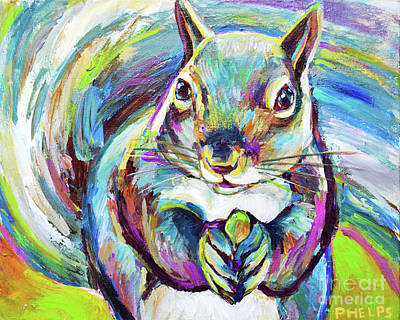 Painting - Springtime Squirrel by Robert Phelps