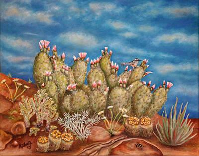 Springtime Succulence Art Print by Kathy Shute