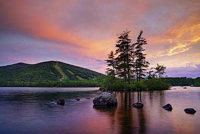 Photograph - Springtime Sunset At Pleasant Mountain by Darylann Leonard Photography