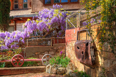 Photograph - Springtime Wisteria In Old Bisbee by Charlene Mitchell