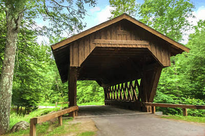 Photograph - Springville Volunteer Bridge by Trey Foerster