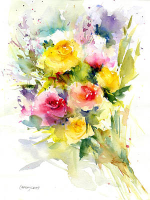 Painting - Springy Roses by Christy Lemp