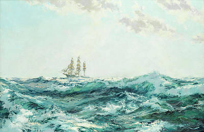 Water Vessels Painting - Sprinkled Foam by Montague Dawson