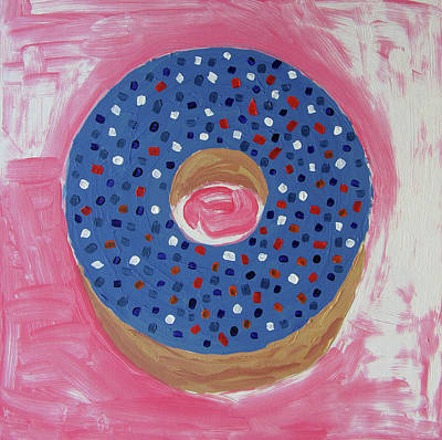 Pink Sprinkled Doughnut  Original by Brian Moore