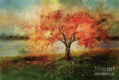 Art Print featuring the digital art Sprinkled With Spring by Lois Bryan