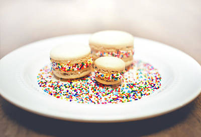 Dessert Photograph - Sprinkles And Macarons by Happy Home Artistry