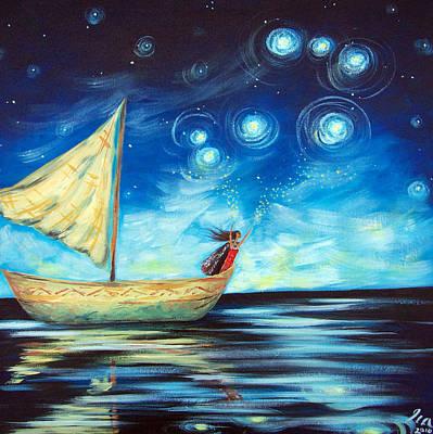 Sprinkling Stars At Matariki  Original by Ira Mitchell-Kirk