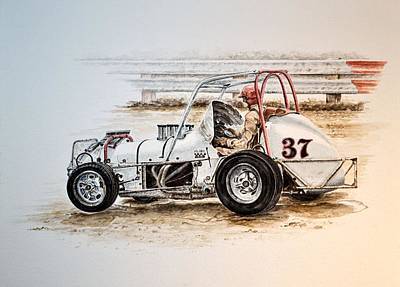 Sprint N Dirt Art Print by Traci Goebel